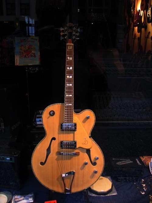Guitar Window Musical Instrument Acoustic Guitar