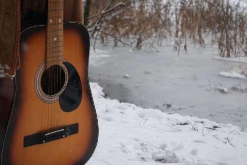 Guitar Winter Music Snow Instrument