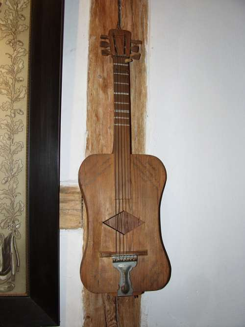 Guitar Music Instrument Wood Antique