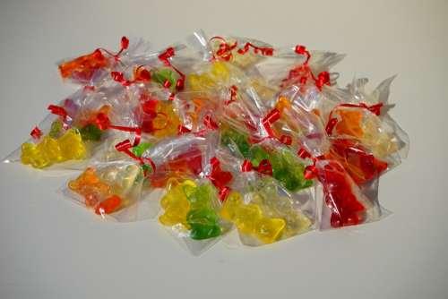 Gummi Bears Packed Sachets Mitbringsel Cellophane