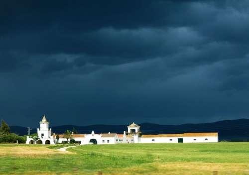 Hacienda Villa House Spain Storm Rain Clouds