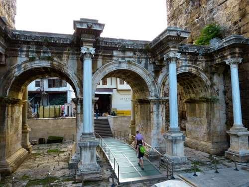 Hadrian'S Gate Antalya Building Turkey