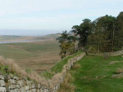 Hadrian'S Wall England Countryside Northumberland
