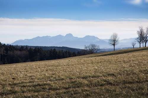 Hair Dryer Landscape Mountains Alpine Upper Bavaria