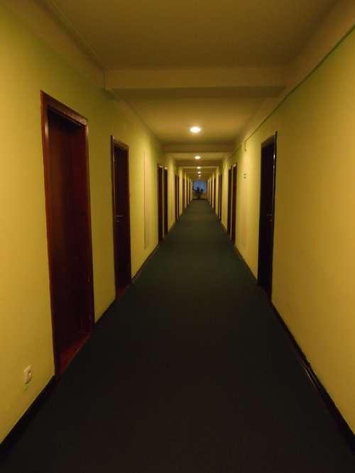 Hall Perspective Hotel Lobby Vanishing Point