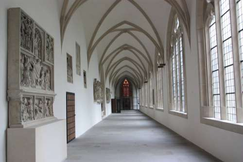 Hallway Corridor Church Windows Light Interior