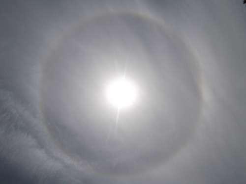 Halo Effect Sun Circle Light Effect