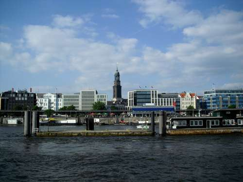 Hamburg Port City St Michaelis St Michaelis