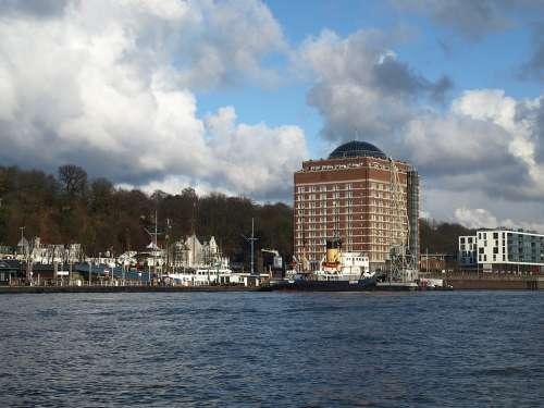 Hamburg Port Elbe Övelgönne Museum Harbour