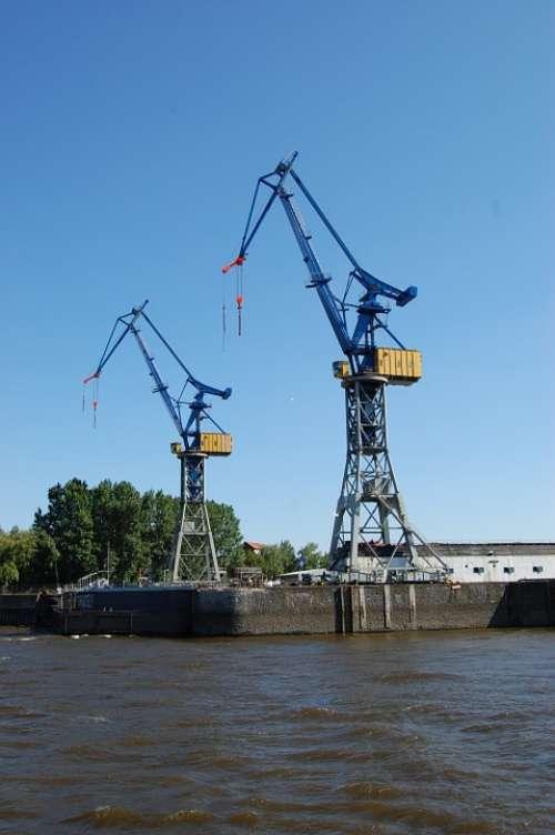 Hamburg Port Cranes