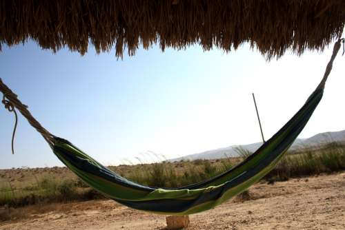 Hammock Sleep Rest Relax Vacation Desert