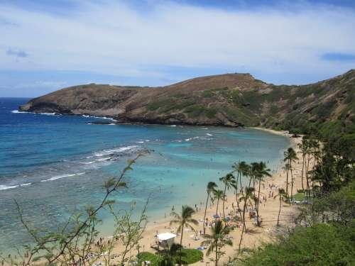 Hanauma Bay Bay Hawaii Sea Beach