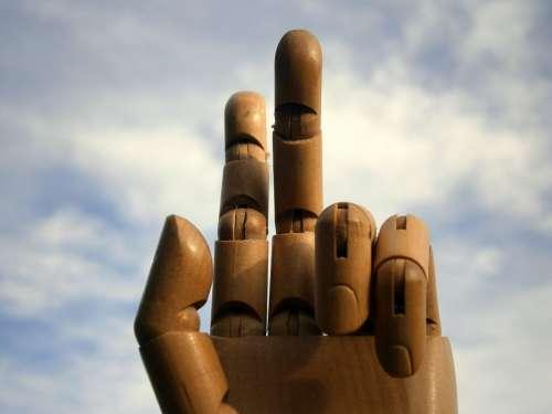 Hand Finger Links Hand Wood Joints Joint Art