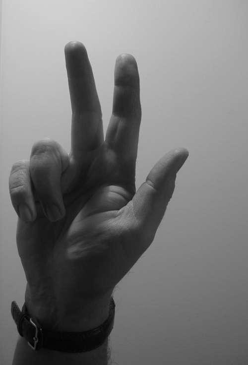 Hand Finger Clock Wrist Watch Show Three Thumb