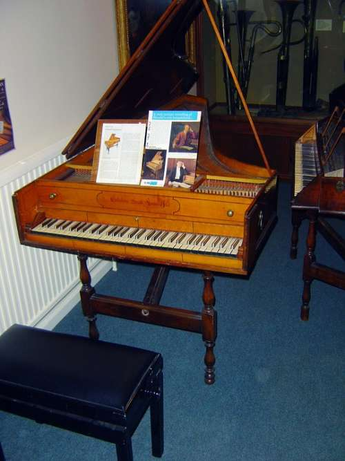 Handel Harpsichord Old Instrument Prototype Piano