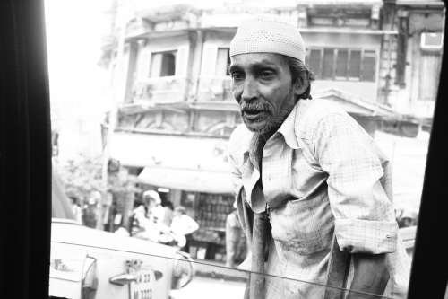 Handicapped Old Man Disabled India Indian Adult