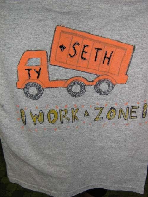 Handicraft Work Tshirt T-Shirt Craft Shirt Paint
