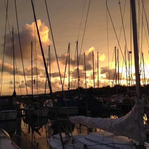 Harbour Herkingen Grevelingen Holland Sailboat