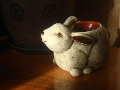 Hare Rabbit Candlestick Ceramic Rabbit Fragrance