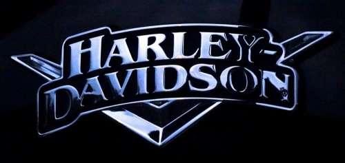 Harley Davidson Logo Motorcycles Shiny Metal Black