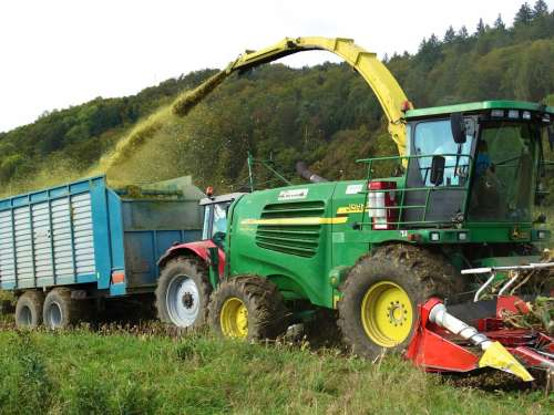 Harvest Time Corn Harvest Harvest Tractor Autumn