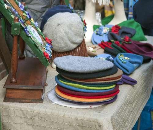 Hat Hats Beret Berets Colorful Bright Market