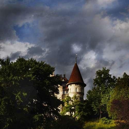Haunted House Castle Schaffhausen Rhine Tower