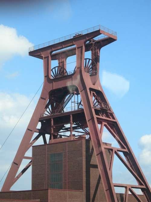 Headframe Mine Eat Bill Zollverein