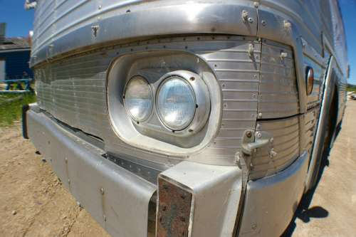 Headlight Bus Chrome Old Bus