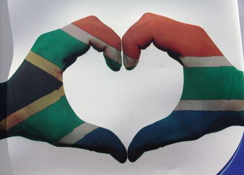 Heart South Africa Flag Love Symbol Symbol