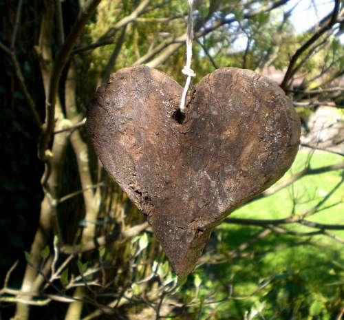 Heart Symbol Affection Love Wood Wooden Heart