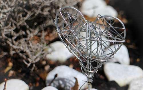 Heart Symbol Love Metal Braid Deco Wire Wire Mesh
