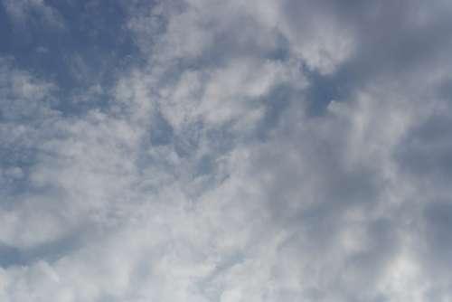 Heaven Clouds Summer Blue White