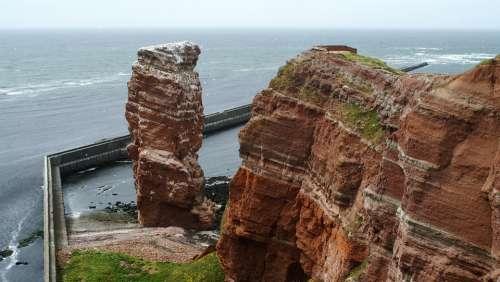 Helgoland Lange Anna North Sea Sea Island