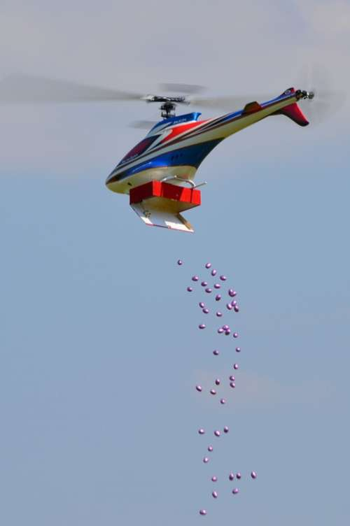 Helicopter Easter Eggs Easter Dropping