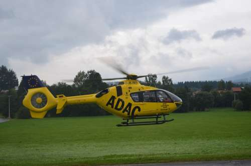 Helicopter Adac Air Rescue Yellow Angel Rescue