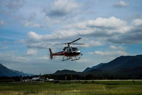 Helicopter Alaska Mendenhall Glacier Mountains