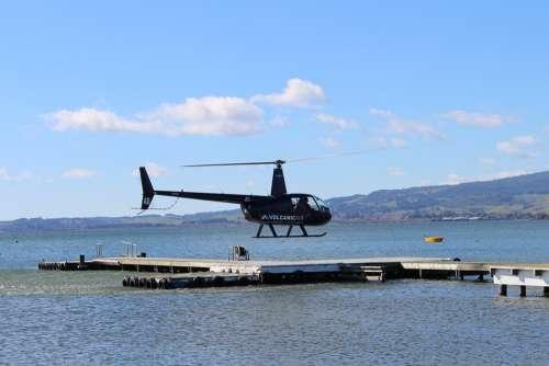Helicopter Rotorua Lake