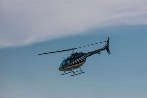 Helicopter Blue Flying Sky Air Aviation Aircraft
