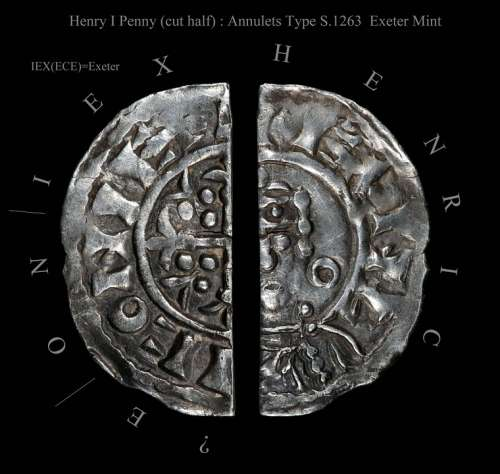 Henry I King England Penny Hammered Coin Old
