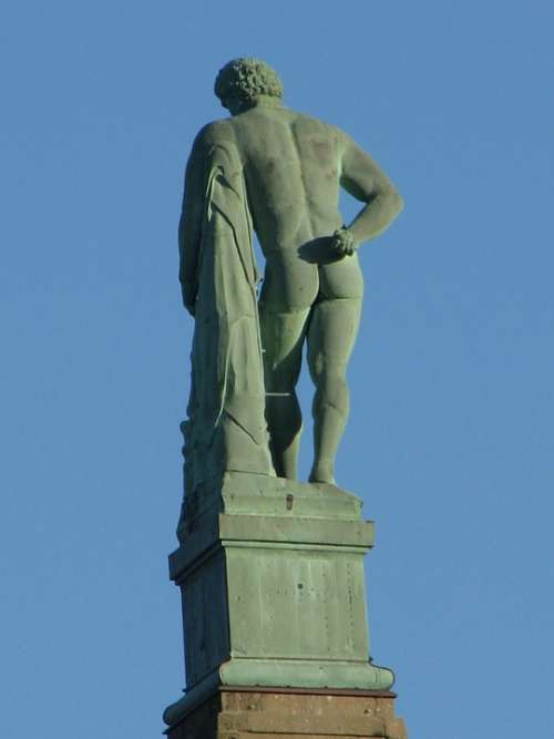 Hercules Statue Wilhelmshöhe Kassel Man Naked
