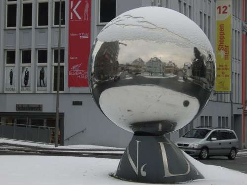 Herford Winter Ball Mirroring Art Reflection