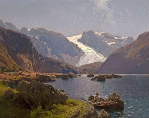 Hermann Herzog Painting Art Artistic Artistry