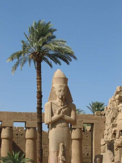 Hieroglyphics Egypt Monument Column Luxor