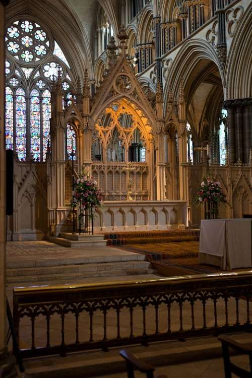 High Altar Lincoln Cathedral Carved Stone Screen