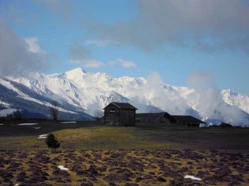 High Tauern Mountains Snow Winter Mountain Alpine