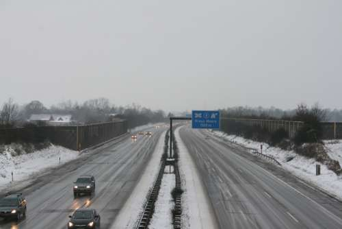 Highway Winter Cold Snow Ice Smoothness Autos