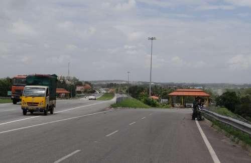 Highway Interchange Slip Road Tax Check Toll Gate