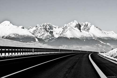 Highway Way Mountains Slovakia Top View Mountain