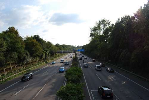 Highway Expressway Roadway A40 Traces Speed
